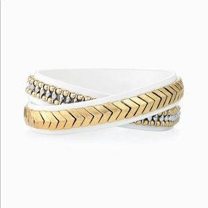 Stella and Dot guilded path double wrap bracelet.